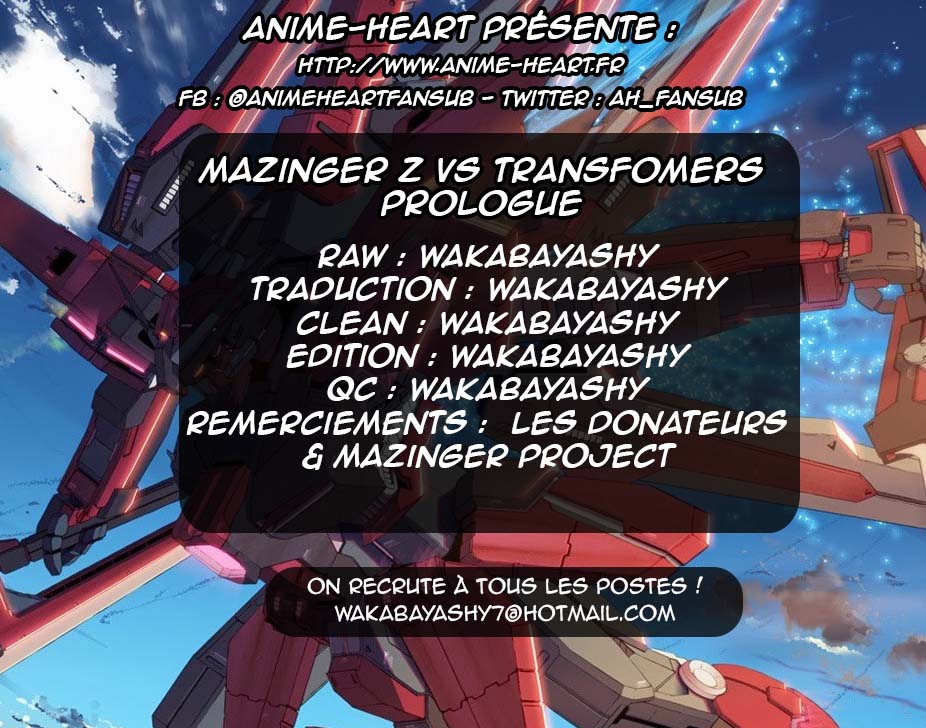 Scantrad - Mazinger Z VS Transformers Prologue