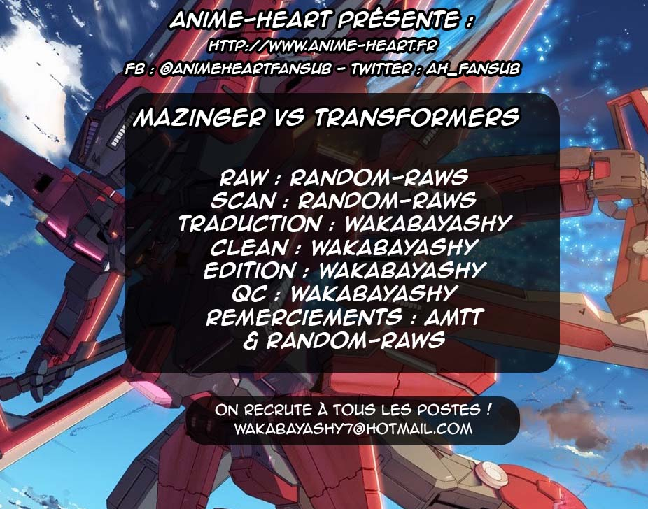 Scantrad - Mazinger Z VS Transformers